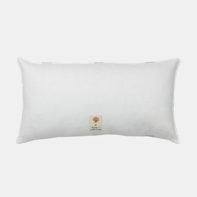 Pillar Ivory Applique Pillow, lumbar
