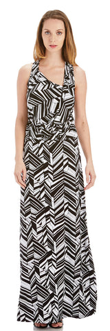 DECO LEAF RACER BACK MAXI DRESS