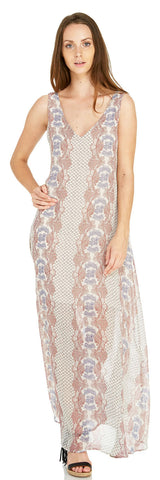 ADELE LACE UP BACK MAXI DRESS