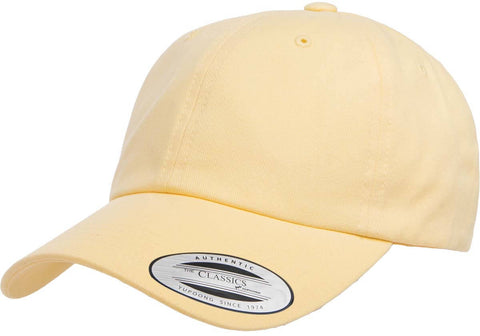 Yupoong Classic Peached Cotton Dad cap Yellow