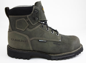 Carolina CA7532 Pitstop Green Leather Waterproof Composite Toe EH Rated Work Boot