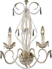 0-066889>Madison 2-Light Wall Sconce Silver Leaf