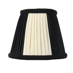 0-011564>3x5x5 Black Egg Chandelier Clip-On Lampshade