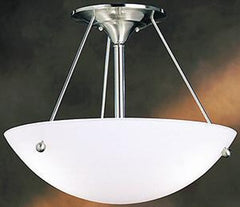 0-018170>18 inchw Family Space 3-Light Semi Flush Mount Brushed Nickel