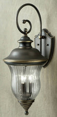 0-026900>28 inchh Sausalito 3-Light Outdoor Wall Lantern Olde Bronze