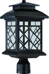 0-009840>17 inchh Woodmere LED Outdoor Post Lantern Oil Rubbed Bronze