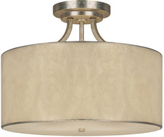 0-017203>17 inchw Luna 3-Light Semi-Flush Winter Gold
