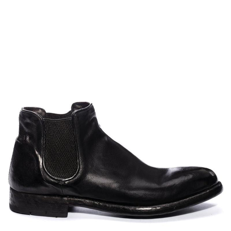 EVITA 510 , Black chelsea boots washed and dyed buffalo leather , vista 1