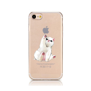 Cartoon Silicone Phone Case For iPhone