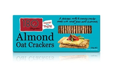 Almond Oat Crackers 180 Degrees