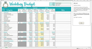 Savvy Wedding Budget - Excel Template