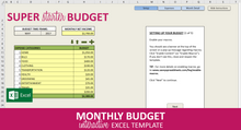 Load image into Gallery viewer, Super Starter Budget - Excel Template