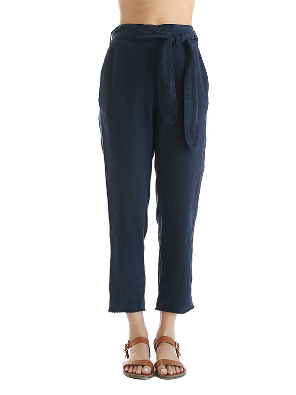 High Waisted Side Trimmed Pant