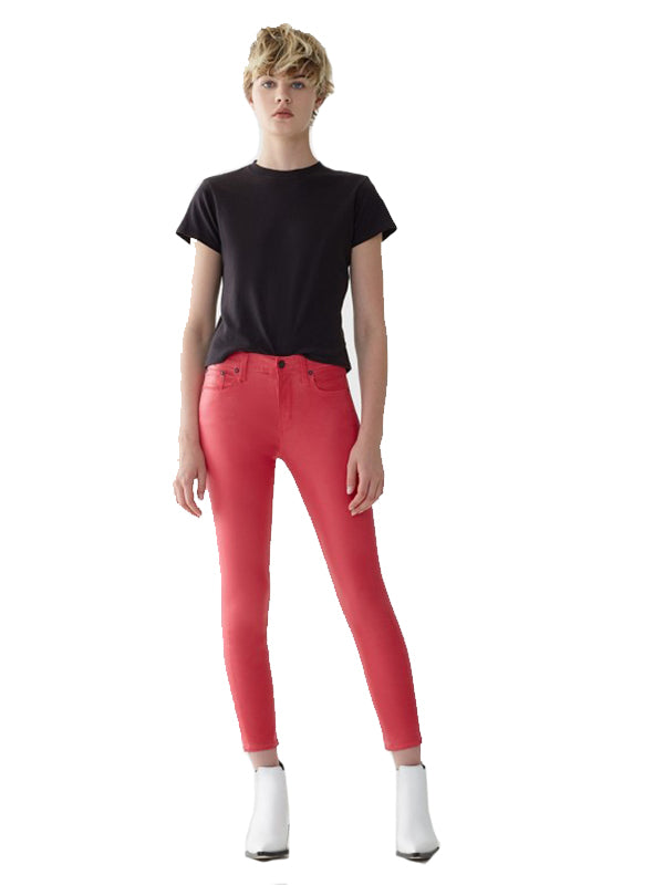 Sophie Hi Rise Crop in Flamingo Leatherette