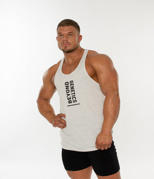 Be Bold Tank Vest - Textured White