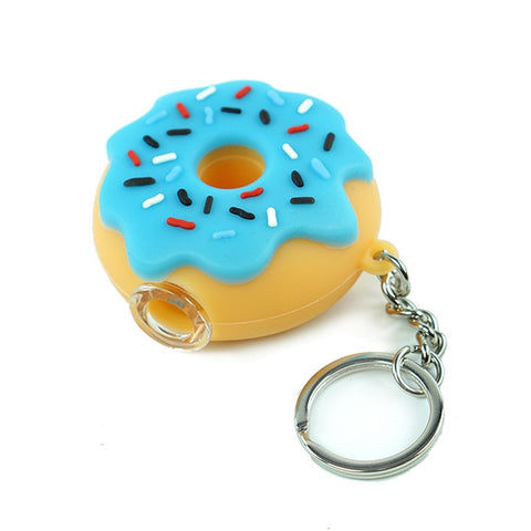 Donut-Shaped Handheld Pipe Keychain