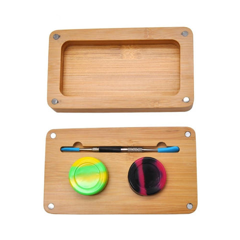 Bamboo Handling Tools Storage Set