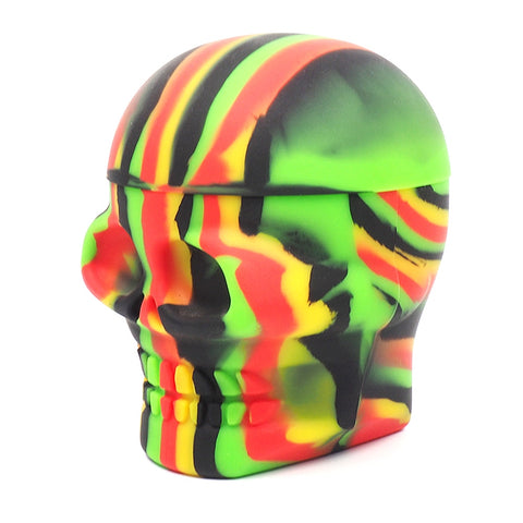 Skull-Shaped Silicone Jar (500ml)
