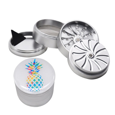 4-Layer Pineapple Grinder with Groove Grinding