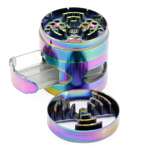 4-Layer Rainbow Grinder with Window Drawer