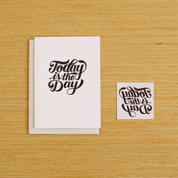 Today Is The Day Tattly Card