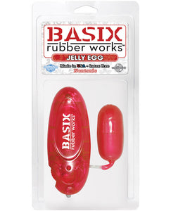 Basix Rubber Jelly Egg - Red