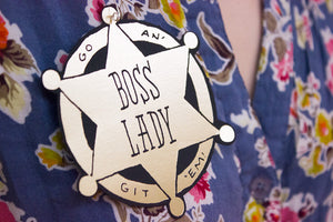 Boss Lady Sheriff's Badge Card