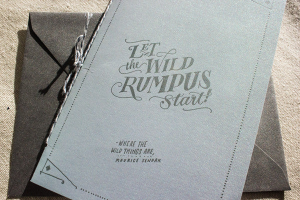 """Where the Wild Things Are"" Baby Shower Booklet"