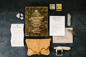 Alex Bolotow and Terry Richardson's Wedding Invitation by Ladyfingers Letterpress