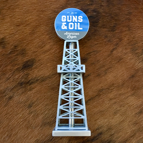 Guns & Oil American Lager Oil Derrick Tap Handle