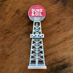 Guns & Oil Western Lager Oil Derrick Tap Handle