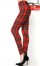 Load image into Gallery viewer, RED PLAID QUEEN SIZE LEGGINGS