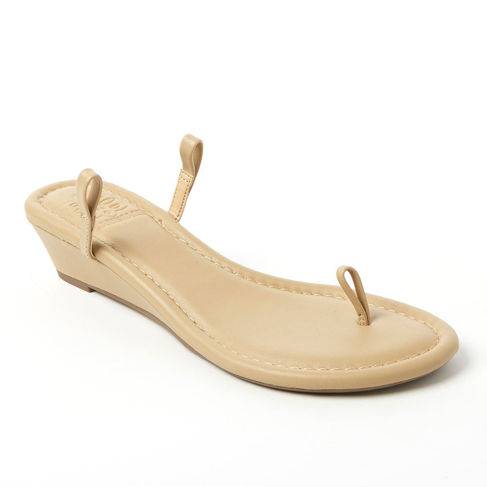 Tan Leather Wedge