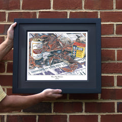 Charm City Celebration Crab Art Print - Ravens 2000 Super Bowl XXXV Win - JWB Art Unlimited