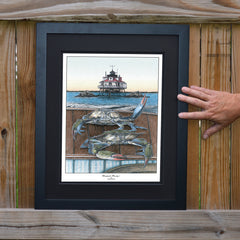 Chesapeake Bounty 1 Thomas Point Light - JWB Art Unlimited