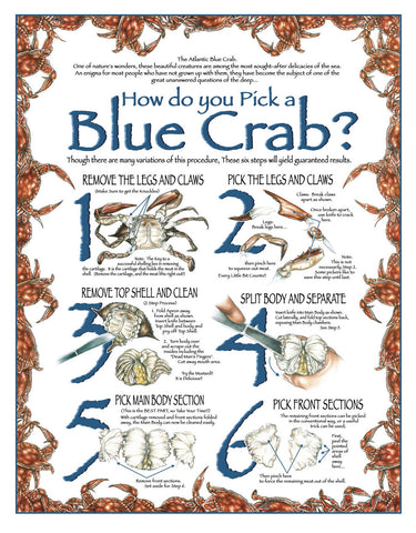 How Do You Pick a Blue Crab Wall Art