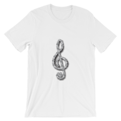Unisex Tee - Motorcycle Chain Treble Clef Design - JWB Art Unlimited