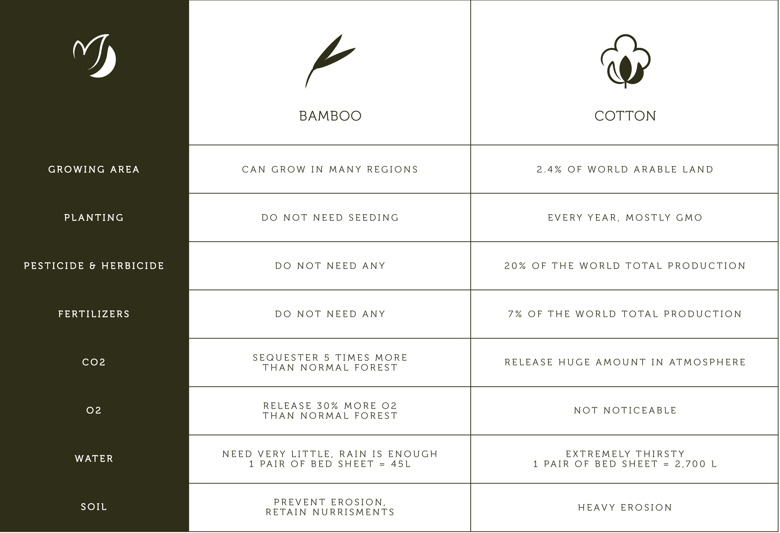 Table Bamboo benefits for you and the planet