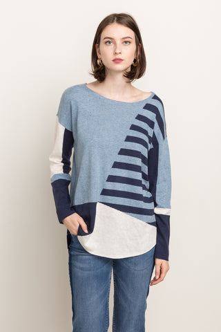 Color Blocked Pullover Sweater