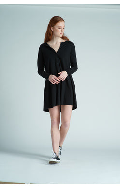 Long Sleeve Placket Dress