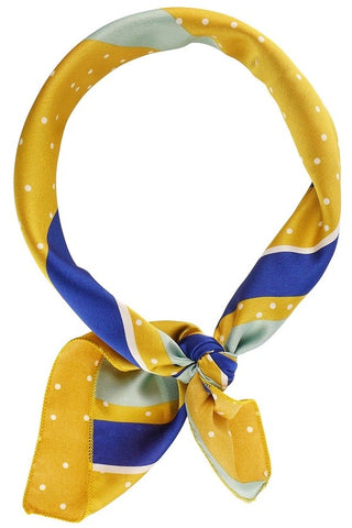 Dots & Dashes Scarf- Gold