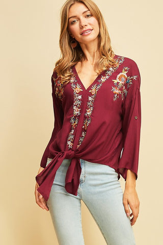 Effortless Embroidered Top