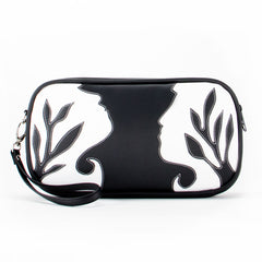 """Silhouette"" Vegan Clutch/Crossbody Bag – Design by Dallas Artist Jody Pham (Multicolored)"