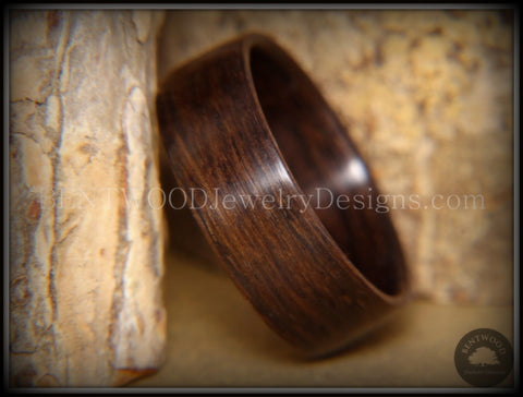 "Bentwood Ring - ""Ancient Medium"" Dark"" 6000 Year Old Bog Oak Dark Classic Wood Ring  ***  Limited Supply  ***"