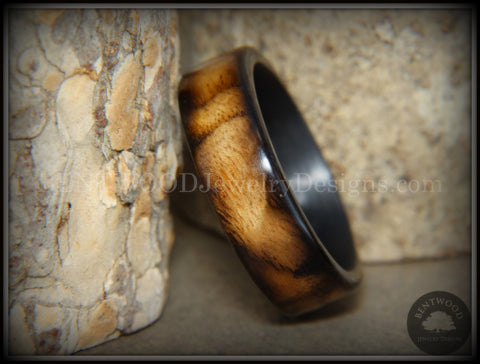 "Bentwood Ring - ""New Smokey"" Bethlehem Olivewood Smoked on Carbon Fiber Core"