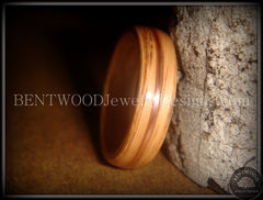 Bentwood Ring - Red Oak Wood Ring with Copper Inlay handcrafted bentwood wooden rings wood wedding ring engagement
