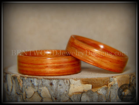 "Bentwood Rings Set - ""Tennessee Tulip Pair"" Classic Tulipwood"