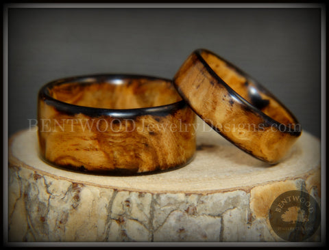 "Bentwood Rings Set - ""Classic Smokies"" Bethlehem Olivewood Wood Ring Set"