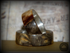 "Bentwood Rings Set - ""Midwest"" Buckeye Burl on Silver Core Classic Wood Ring Bands handcrafted bentwood wooden rings wood wedding ring engagement"