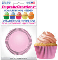 Light Pink Cupcake Liners